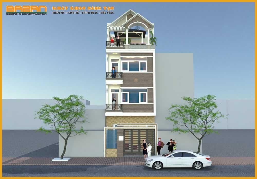 Công Trình Thiết Kế Nhà Phố 4 Tầng Đẹp Quận Bình Tân