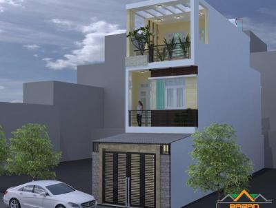 Công trình Thiết Kế Nhà Phố 3 Tầng Mặt Tiền 4.5m Tại Biên Hòa