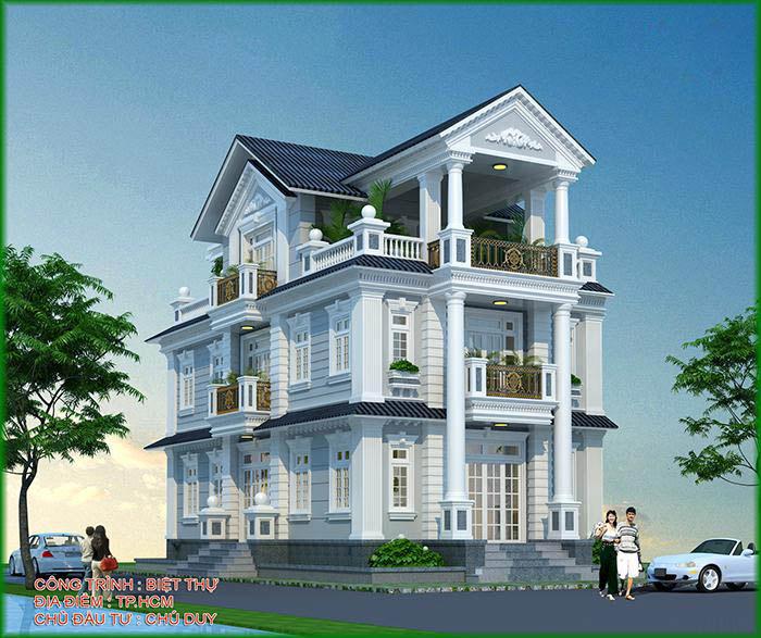 Thiết kế biệt thự vườn 3 tầng đẹp 2017 - 2018