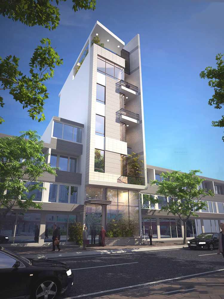 Báo giá thiết kế nhà phố 1 trệt 4 lầu sân thượng