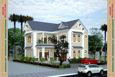 Công Trình Thiết Kế Biệt Thự 2 Tầng Mái Thái Tại Bình Phước