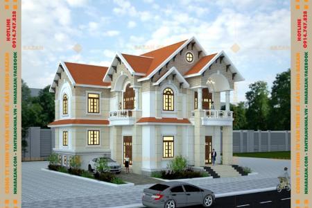 Công Trình Thiết Kế Biệt Thự 2 Tầng Mái Thái Tại Đồng Nai