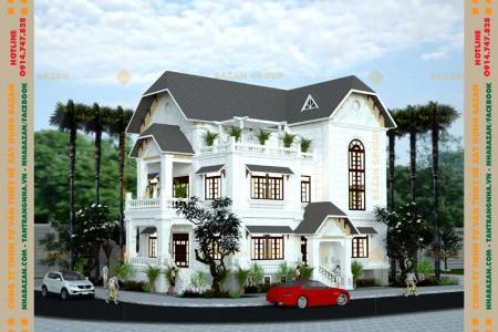 Công Trình Thiết Kế Biệt Thự 3 Tầng Mái Ngói Tại Bình Phước