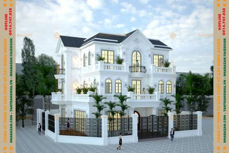 Công Trình Thiết Kế Biệt Thự 3 Tầng Tân Cổ Điển Tại Quận 2 TPHCM