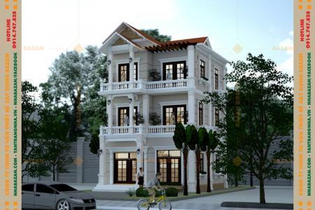 Công Trình Thiết Kế Biệt Thự Mái Thái 3 Tầng Đẹp Tại Tây Ninh