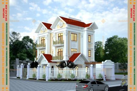 Công Trình Thiết Kế Biệt Thự Mái Thái 4 Tầng Đẹp Tại Đồng Nai