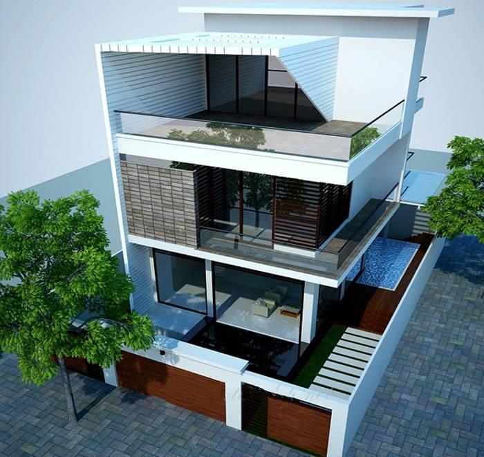 Thiết kế biệt thự phố 3 tầng đẹp