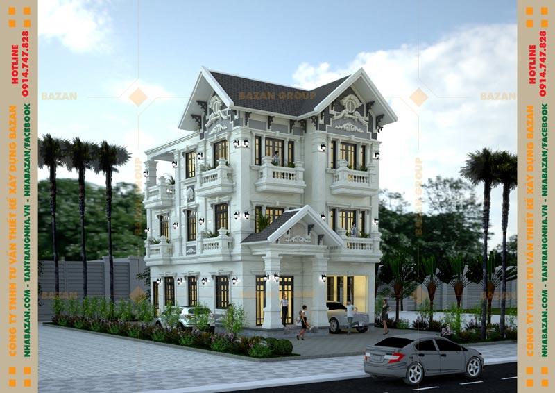 Công Trình Thiết Kế Biệt Thự Mái Thái 3 Tầng Cổ Điển Tại Tây Ninh