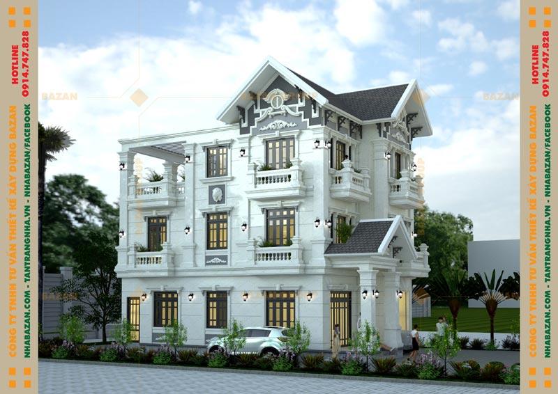 Mẫu Thiết Kế Biệt Thự Mái Thái 3 Tầng Cổ Điển Tại Tây Ninh