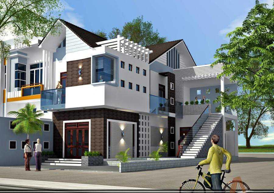 Thiết kế biệt thự phố hiện đại đẹp sang trọng 2020