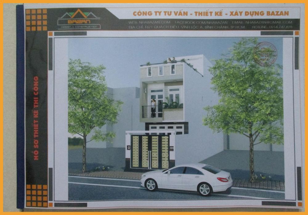 Mẫu Thiết Kế Nhà Phố 1 Trệt 1 Lầu Sân Thượng Quận 12 TPHCM