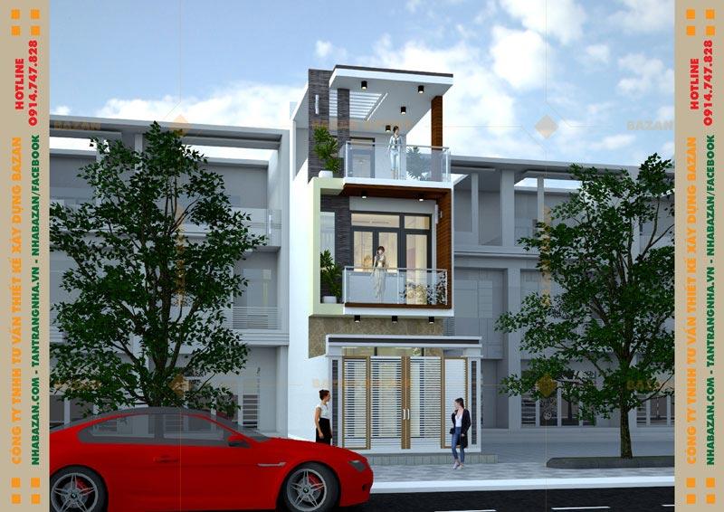 Dự Án Thiết Kế Nhà Phố 3 Tầng Đẹp Tại Huyện Nhà Bè TPHCM