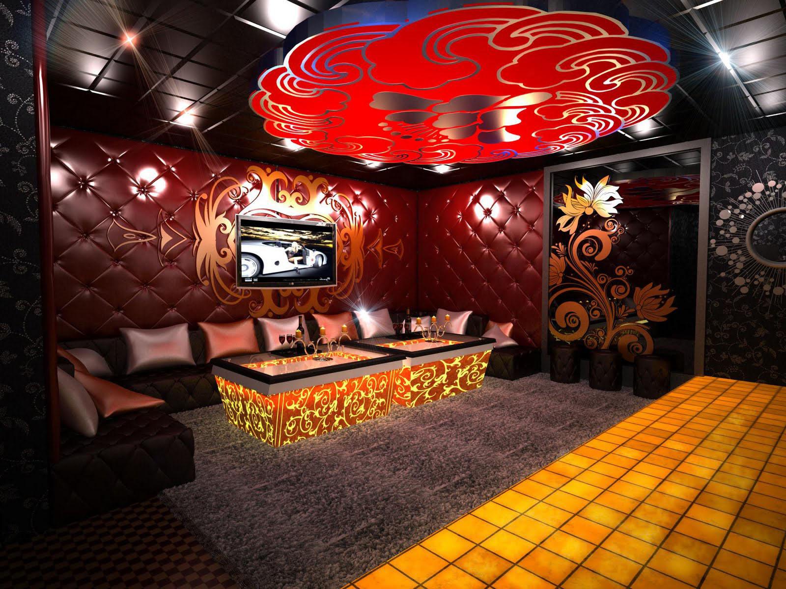Thiết kế quán karaoke đẹp hiện đại